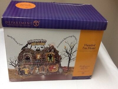 "Department 56 Halloween ""haunted Fun House"" 55094 In Box"