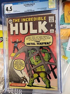 Incredible Hulk #6 CGC 4.5  White Pages!