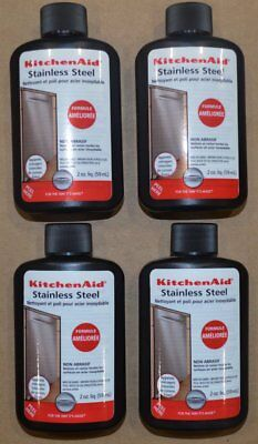Lot of 4 Kitchen Aid Stainless Steel Cleaner and Polish 2 oz.