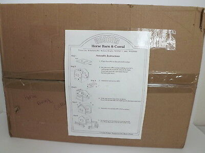 Woodies Horse Barn & Corral Item # 3001 NEW! Tymarc Product