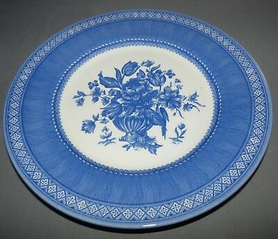 Churchill Out of the Blue Plate England Blue and White Flowers Vintage