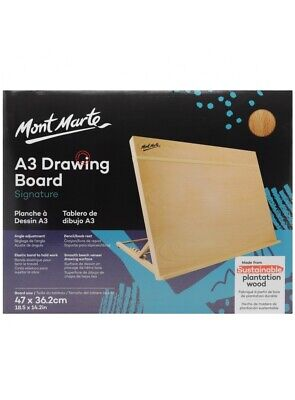 Mont Marte Drawing Board A3 with Band, Table Easel