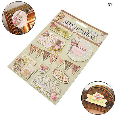 3D Adhesive Stickers DIY Scrapbooking Photo Album Diary Wedding Deocor Craft BD