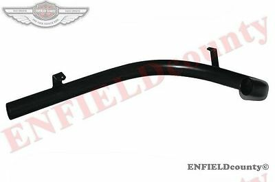 New Black Powder Coated Exhaust Silencer Bend Pipe Royal Enfield Bullet 500 @aus