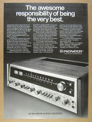 1973 Pioneer SX-828 SX828 Stereo Receiver photo vintage print Ad