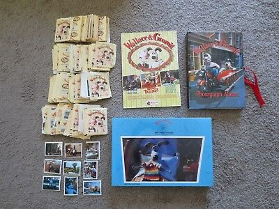 Wallace & Gromit Lot of 4  Photo Album Puzzle Merlin Sticker Album 100+ Stickers