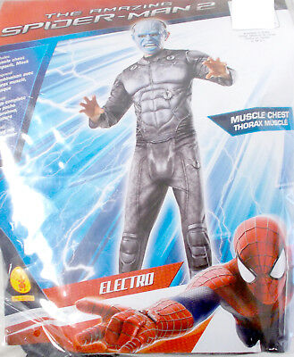 Rubies The Amazing Spider-man Spiderman 2 Electro Deluxe Costume Muscle Chest J