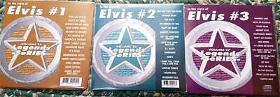3 Cdg Karaoke Discs Elvis Legends Cd+G Oldies Rock Burning Love,In The Ghetto
