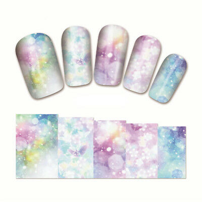 3D Nail Decoration Wraps Manicure DIY Decals Water Transfer Nail Art Stickers