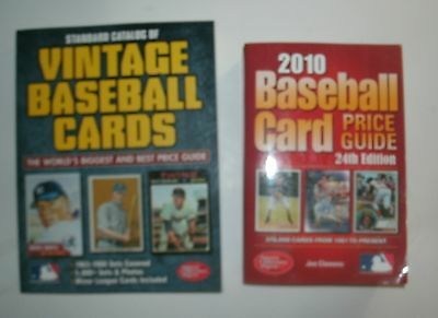 LOT of 2 BOOKS:  Standard Catalog of Vintage Baseball Cards & 2010 Price Guide