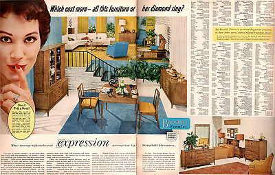 Broyhill Furniture Premier Division EXRESSION Which Cost More 1958 MAGAZINE AD