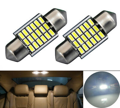 2x 31mm 18 SMD 3014 LED 3W Soffitte Canbus Innenraum Beleuchtung Birne Weiß 12V