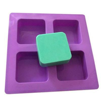 4 Cavity Geometric Basic Plain Soap Mould Muffin Cup Cake Candle DIY Mold