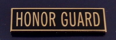 "HONOR GUARD 3/8"" Award/Commendation Bar/Uniform Pin police Gold/Black USA MADE!"