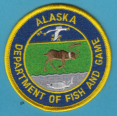 Alaska  Department Of Fish And Game Police Shoulder Patch