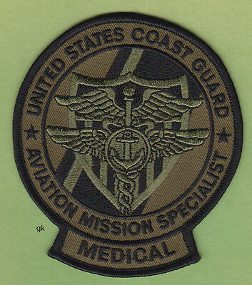 US COAST GUARD AVIATION MISSION SPECIALIST MEDICAL EMT PATCH (Subdued)