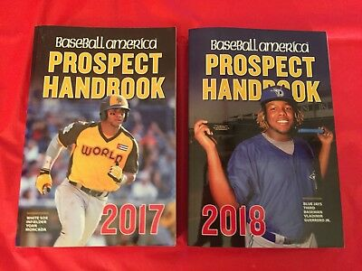 LOT 2-2017 & 2018 Baseball America Prospect Handbooks Minor League Players Books