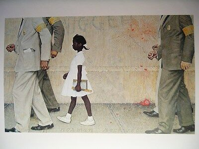 Norman Rockwell Print PROBLEM WE ALL LIVE WITH school desegregation Civil Rights