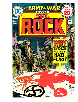 OUR ARMY AT WAR #272 in VF/NM 1974 DC WAR comic SGT ROCK  JOE KUBERT Nazi cover