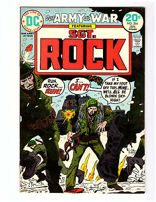 OUR ARMY AT WAR #264 in VF+ a 1974 DC WAR comic SGT ROCK - JOE KUBERT cover
