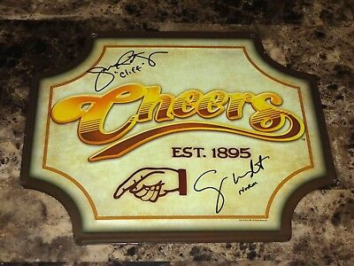 Cheers Norm & Cliff Signed Bar Prop Display Sign John Ratzenberger George Wendt