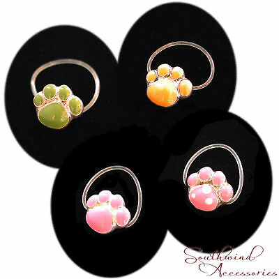 Paw Toe Ring On A Stretch Illusion Band Your Choice In Color Of Enamel Rare