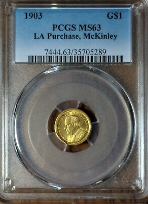 1903 LA Purchase, McKinley gold dollar PCGS MS63 Commemorative Dollar