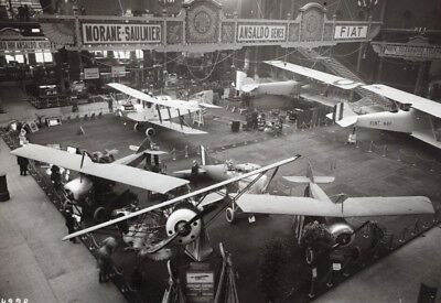 Paris Airshow Grand Palais Morane Saulnier Aviation old Agence Rol Photo 1919