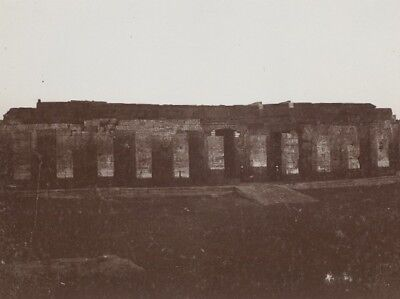 Egyptology Temple Ruins Egypt Old Photo 1900