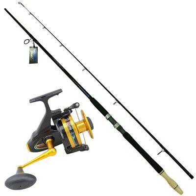 10 foot Ugly Stick Fishing Rod with a penn 750ssm Spinfisher reel