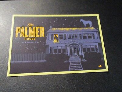 TWIN PEAKS RETURN Art 4X6 Postcard DOUBLE R DINER poster print rockets are red