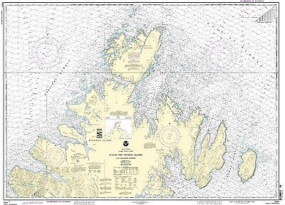 NOAA Chart Shuyak and Afagnak Islands and adjacent waters 11th Edition 16604