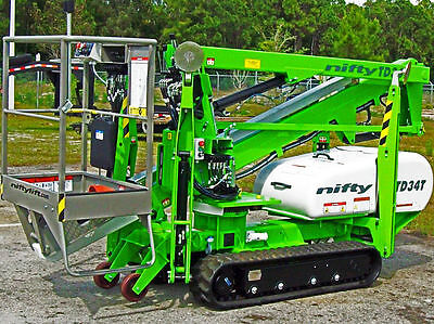 """Nifty TD34T 40' Track Boom Lift,Only 43"""" Wide,Order Now For Spring Delivery 2018"""