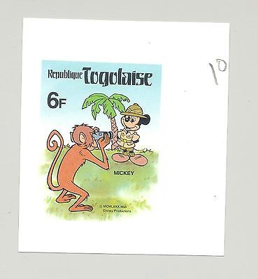 Togo #1069, Disney, Monkey 1v. 4-margin imperf essay