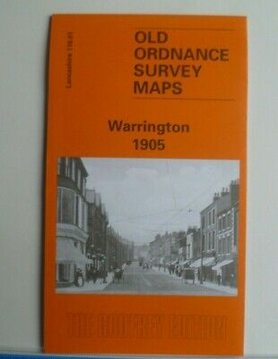 Old Ordnance Survey  Detailed Maps Warrington Lancashire 1905 Godfrey Edition