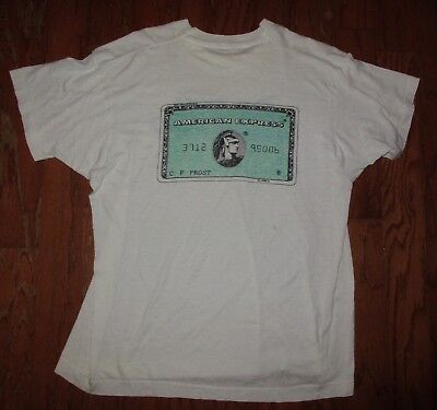 Vint AMERICAN EXPRESS CARD -Do You Know Me- Promo Advertising T-SHIRT Rare & HTF
