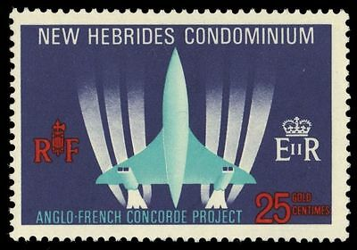 BRITISH NEW HEBRIDES 130 (SG133) - Development of the Concorde (pa31760)