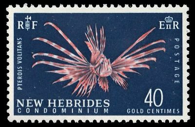 "BRITISH NEW HEBRIDES 102 (SG104) - Turkeyfish ""Pterois volitans"" (pa81468)"