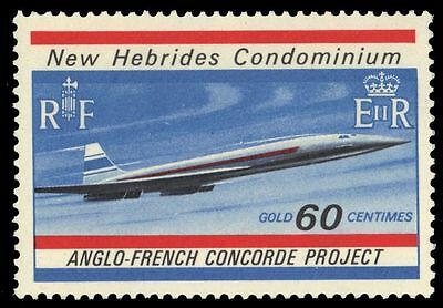 BRITISH NEW HEBRIDES 131 (SG134) - Development of the Concorde (pa31761)
