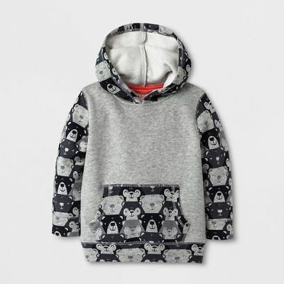 Toddler Boys' Lightweight Hoodie- - Cat & Jack Gray 5T
