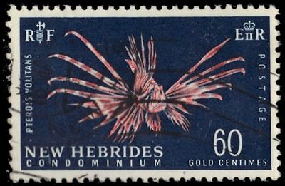 "BRITISH NEW HEBRIDES 103A (SG129) - Turkeyfish ""1967 Print"" (pa81471)"