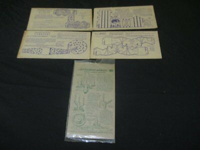 Vtg. 1940s Nabisco Shredded Wheat Toytown Carnival Cards Lot 4 + Indian Candle