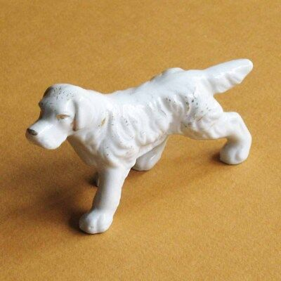 Dog Figurine Retriever Porcelain Ceramic Japan
