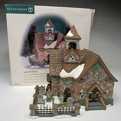 Dept 56 New England Village Series Laurel Hill Church No. 56629 from 2000 in box