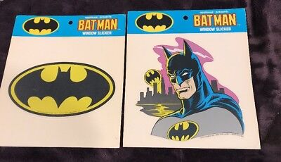 Batman 1989 Window Slicker Window Cling Stickers By Applause 2 Different Mip Moc
