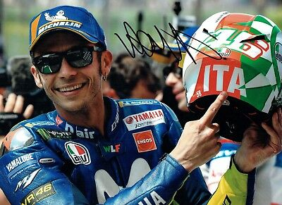 VALENTINO ROSSI Autograph NEW SIGNED 16x12 Yamaha Photo 4 AFTAL COA The Doctor