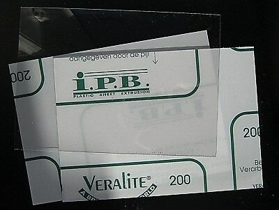 4 x 1mm A4 Clear Acrylic Sheet Panels petg Plastic Veralite Similar to perspex