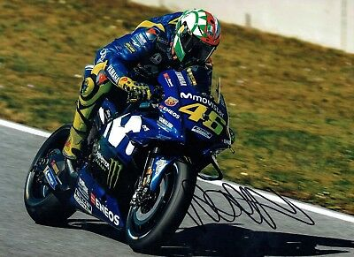 VALENTINO ROSSI Autograph NEW SIGNED 16x12 Yamaha Photo 5 AFTAL COA The Doctor
