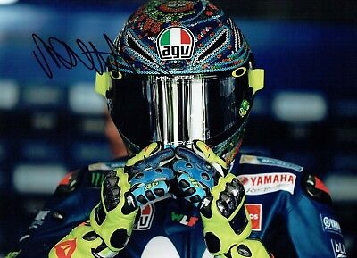 VALENTINO ROSSI Autograph NEW SIGNED 16x12 Yamaha Photo 6 AFTAL COA The Doctor