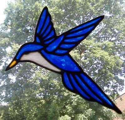 Hummingbird stained glass effect window cling decor sticker